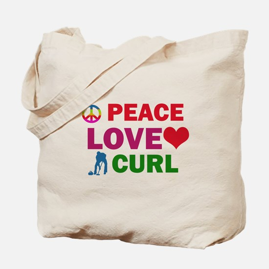 Peace Love Curl Designs Tote Bag
