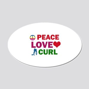 Peace Love Curl Designs 20x12 Oval Wall Decal