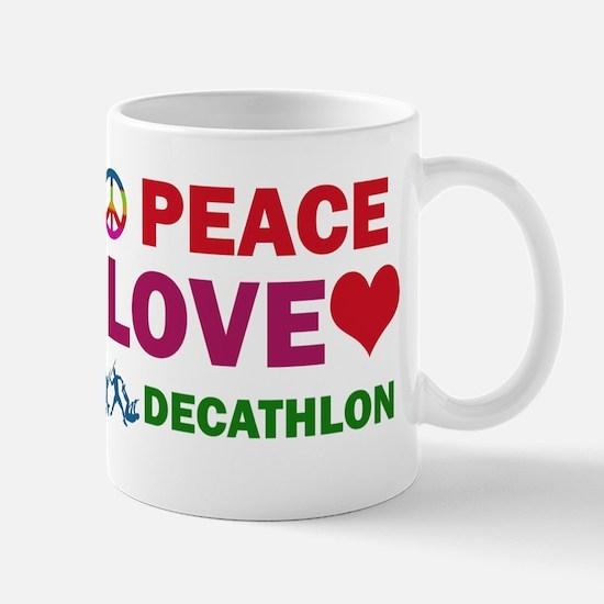 Peace Love Decathlon Designs Mug