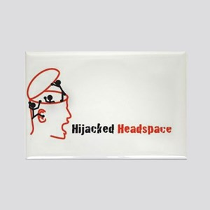 Hijacked Headspace Podcast Logo Rectangle Magnet