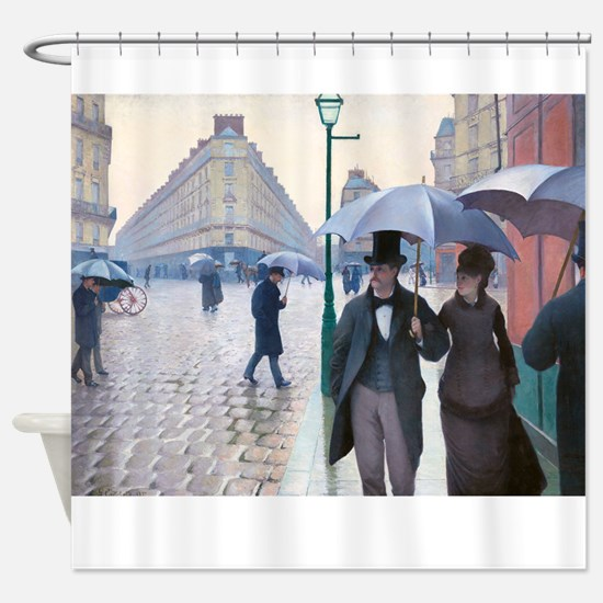 Caillebotte - Paris St Shower Curtain
