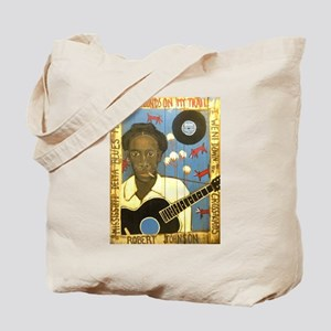 Robert Johnson Hell Hound On My Trail Tote Bag