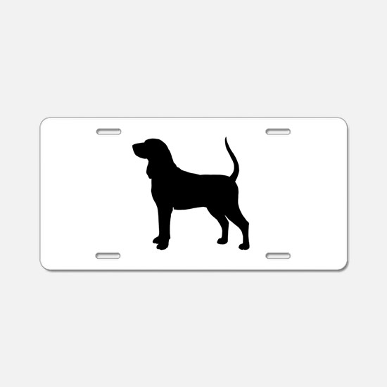 Black & Tan Coonhound Aluminum License Plate