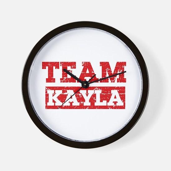 Team Kayla Wall Clock