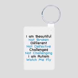 Iam Autism Watch Me Fly Aluminum Photo Keychain