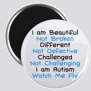 Iam Autism Watch Me Fly Magnet