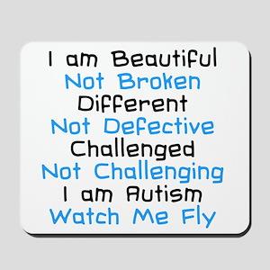 Iam Autism Watch Me Fly Mousepad