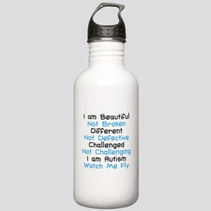 Iam Autism Watch Me Fly Stainless Water Bottle 1.0