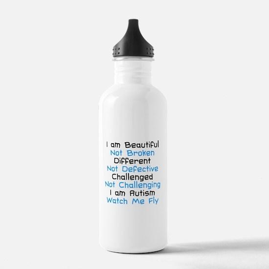 Iam Autism Watch Me Fly Water Bottle
