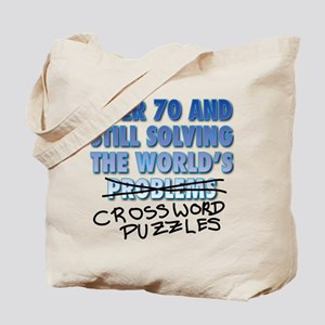 Solving the World's Crossword Puzzles Tote Bag