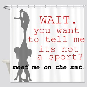 Meet Me on the Mat Shower Curtain