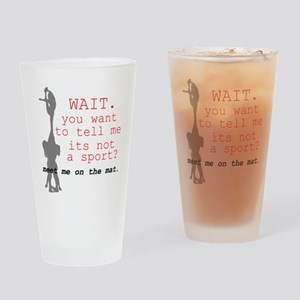 Meet Me on the Mat Drinking Glass