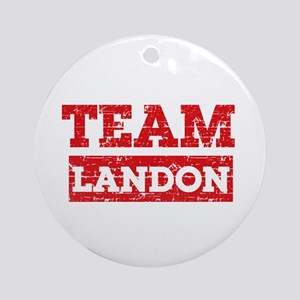 Team Landon Ornament (Round)