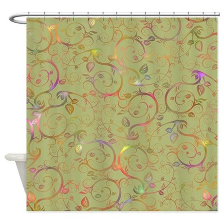 Colorful Vines Shower Curtain