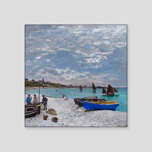 "Monet - Saint Adresse Square Sticker 3"" x 3"""
