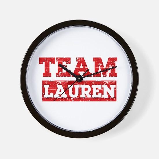 Team Lauren Wall Clock