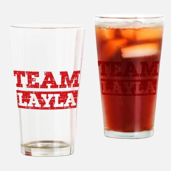 Team Layla Drinking Glass
