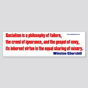 Socialism is a Philosophy of Failure Sticker (Bump