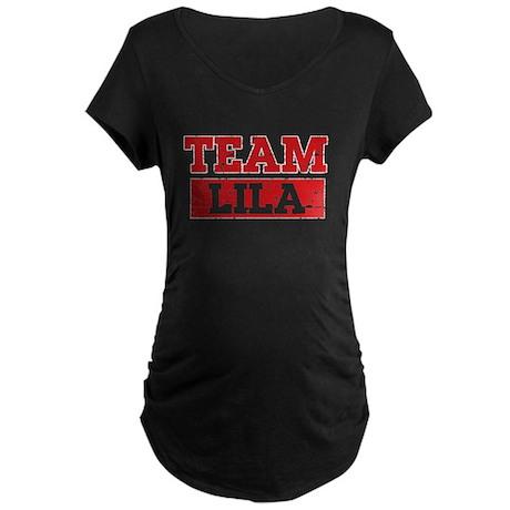 Team Lila Maternity Dark T-Shirt