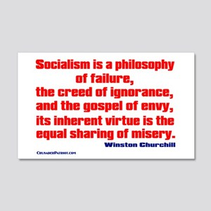 Socialism is a Philosophy of Failure 20x12 Wall De