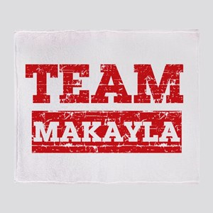 Team Makayla Throw Blanket