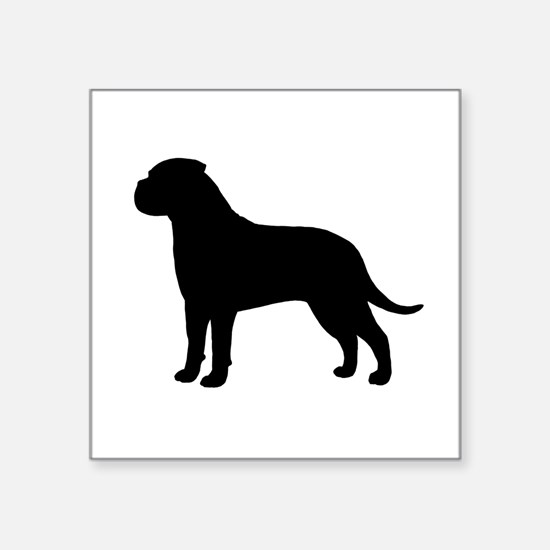 "Bullmastiff Square Sticker 3"" x 3"""