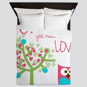 Owl You Need is Love Queen Duvet