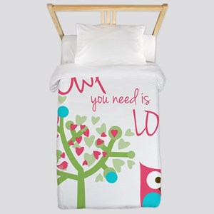 Owl You Need is Love Twin Duvet