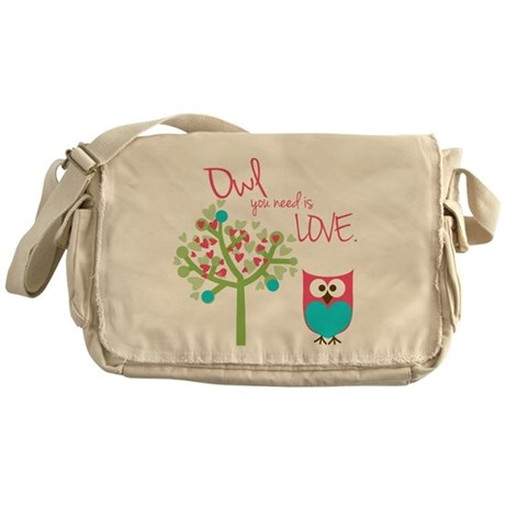 Owl You Need is Love Messenger Bag