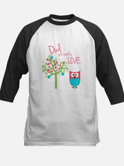 Owl You Need is Love Kids Baseball Jersey