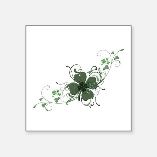 """Elegant Shamrock Design.png Square Sticker 3"""" x 3"""""""