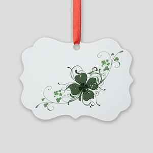 Elegant Shamrock Design Picture Ornament