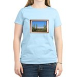 Snowy Four Peaks with Border Women's Light T-Shirt