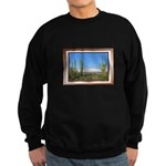 Snowy Four Peaks with Border Sweatshirt (dark)