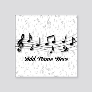 Personalized Musical Notes design Square Sticker 3