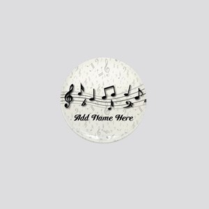 Personalized Musical Notes design Mini Button