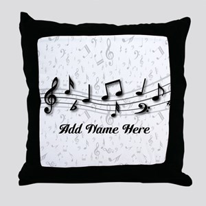 Personalized Musical Notes design Throw Pillow