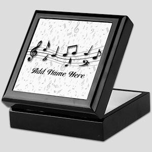 Personalized Musical Notes design Keepsake Box