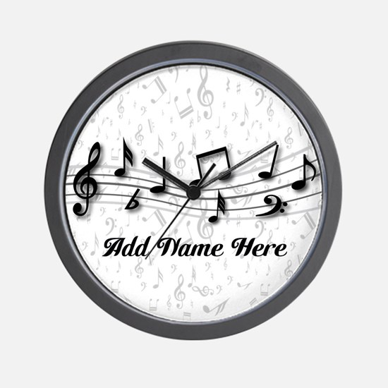 Personalized Musical Notes design Wall Clock