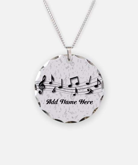 Personalized Musical Notes design Necklace Circle