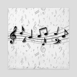 Personalized Musical Notes design Queen Duvet