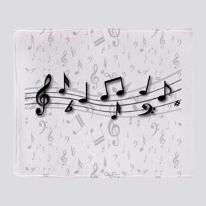 Designer Musical Notes in black and grey Stadium