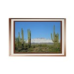 Snowy Four Peaks with Border Rectangle Magnet (100
