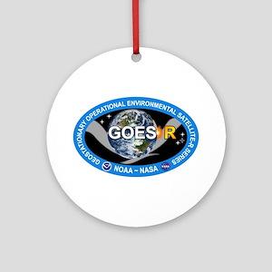 GEOS-R Logo Round Ornament