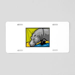 Hippo Aluminum License Plate