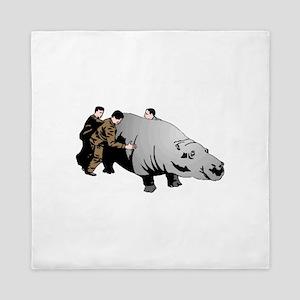 Hippo Queen Duvet