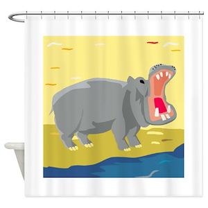 Fun Hippo Shower Curtains