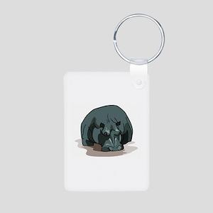 Hippo Aluminum Photo Keychain