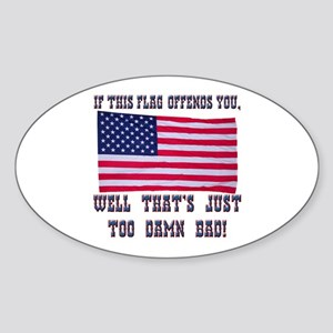Flag3 Sticker (Oval)