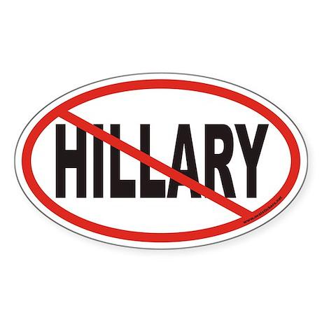 No Hillary Euro Oval Sticker